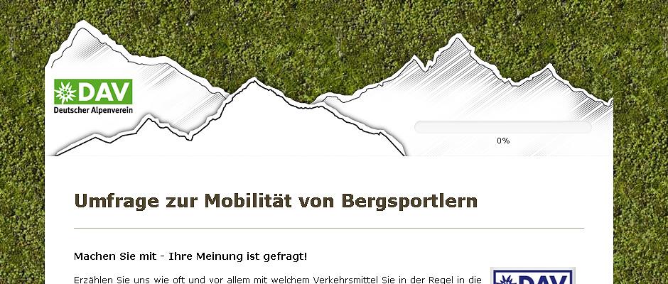 Umfrage Alpenverein