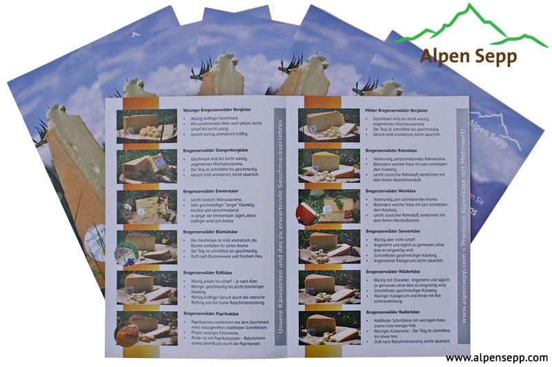 Alpensepp Käsebeschreibung Flyer