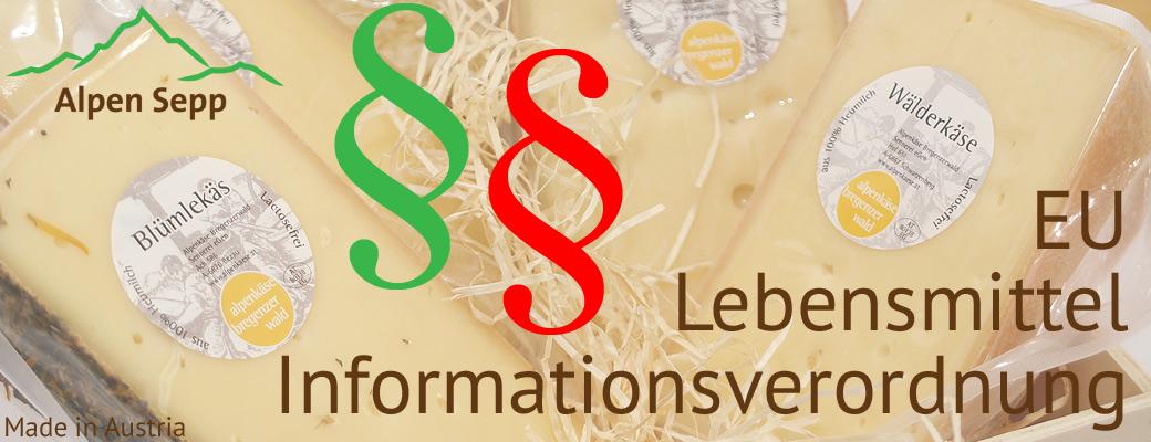EU Lebensmittel Informationsverordnung