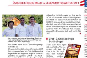 Milchwirtschaft berichtet zum Alpen Sepp