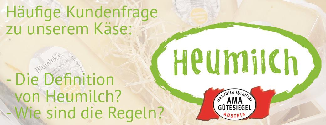 Heumilch Regulativ Österreich