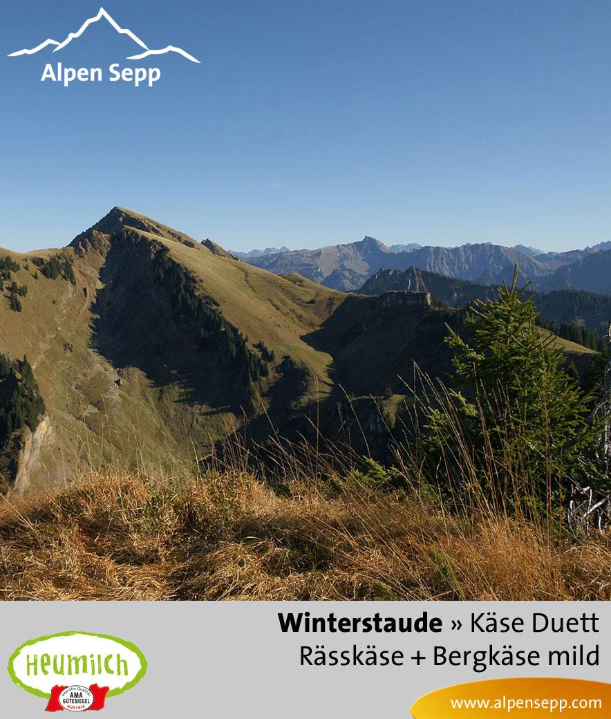 Käse-Duett Komposition Winterstaude