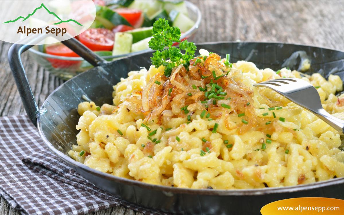 Rezept für Käsespätzle vom ARD Buffet