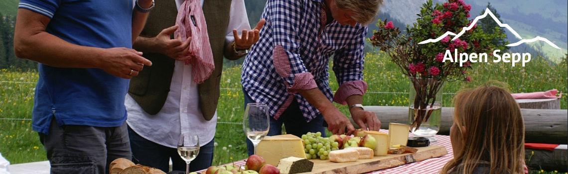 Käse und Wein - Alpen Sepp für Heurigen und Winzer