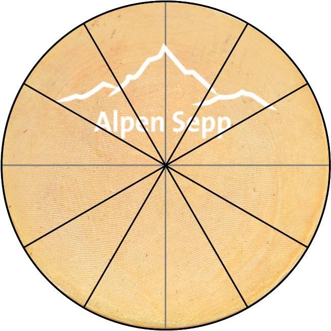 Käse kaufen und Käsesstücke zuschneiden - Dreieck Stücke