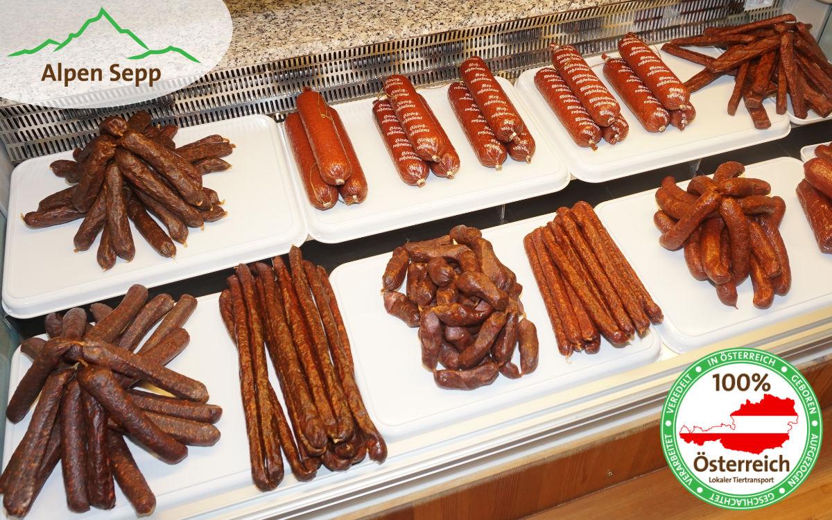 Fleischqualität für Wurstwaren bei Alpen Sepp