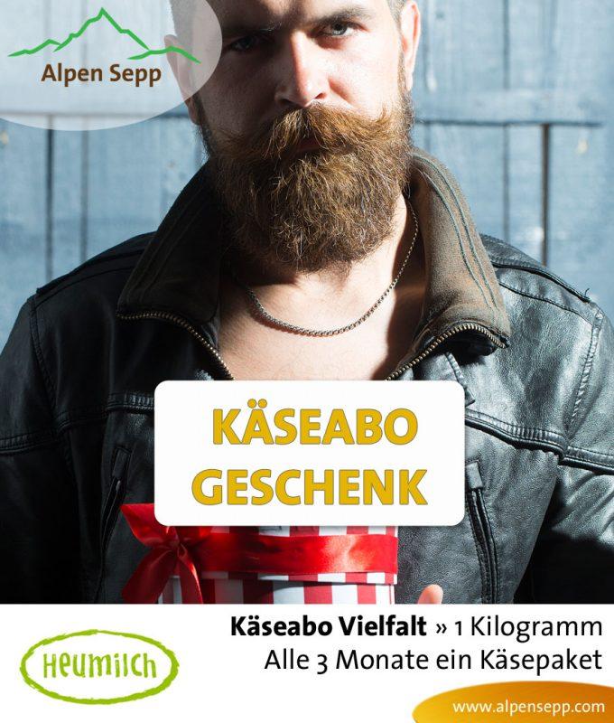 Käse Geschenk Abo - 1 kg Käsebox pro Quartal