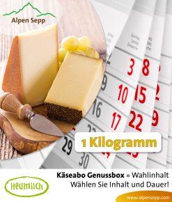 Käseabo 1 kg, Käse Abonnement mit 5 Käsesorten
