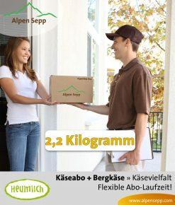 Käse Überraschungsbox mit 2,2 kg als Abo Service