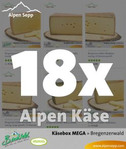 Mega Käsebox - 18 Käse Sorten